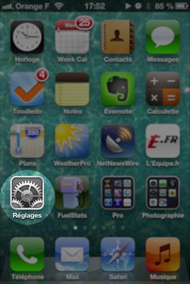 Réglage compte Exchange sur iPhone