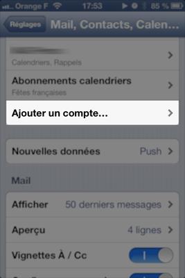 MS Exchange sur iPhone : ajouter un compte