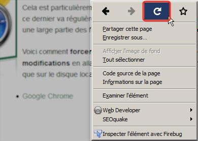 Firefox-Bouton rafraichir page