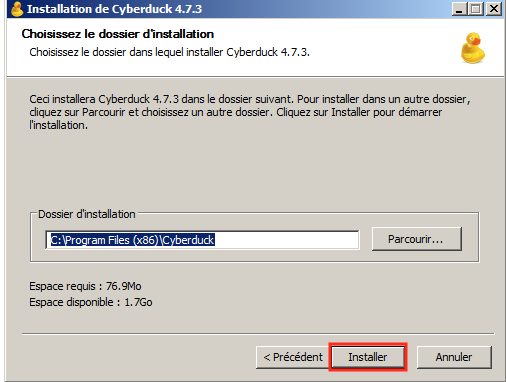 Cyberduck-16-Dossier d'Installation Windows