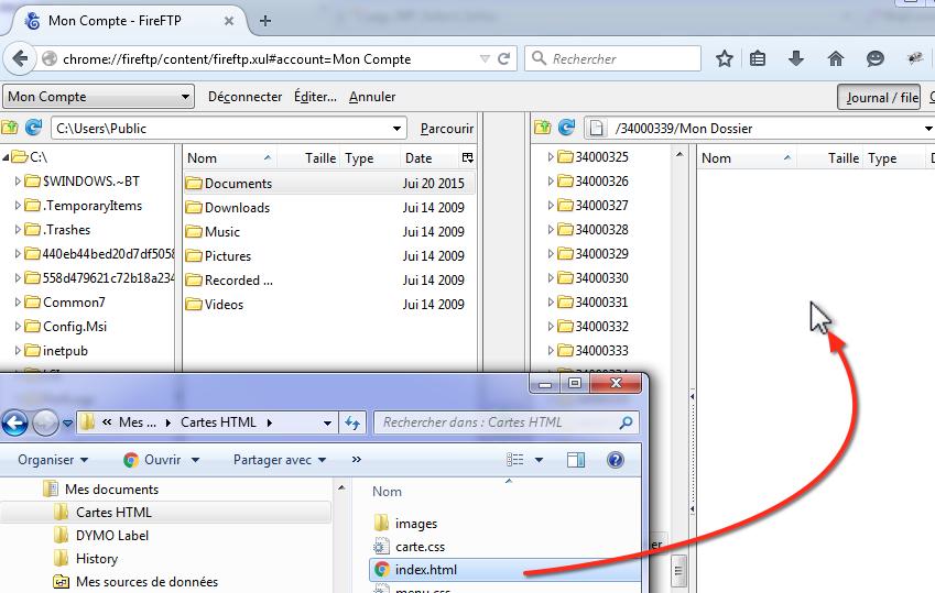 FireFTP-Envoi fichier