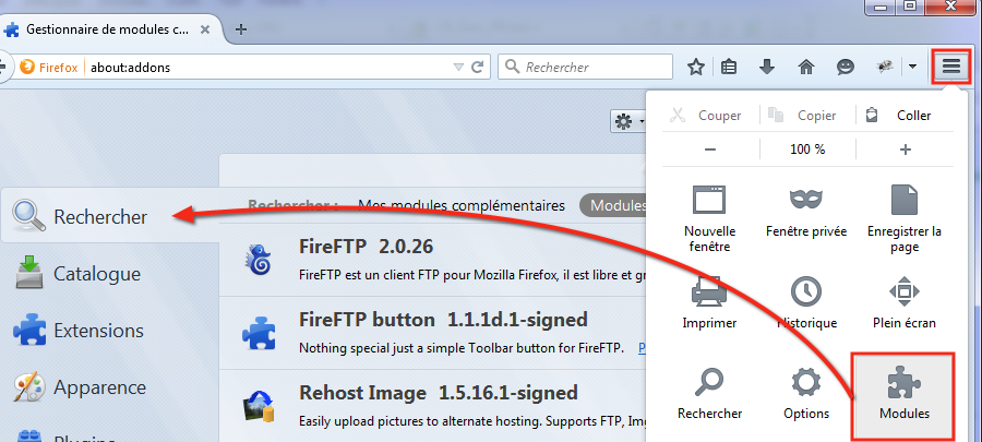 FireFTP-Module Firefox