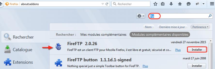 FireFTP-Recherche module FTP