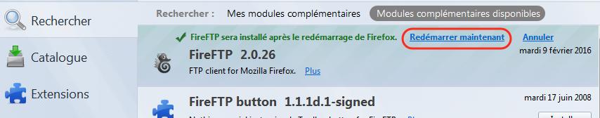 FireFTP-Redémarrer Firefox