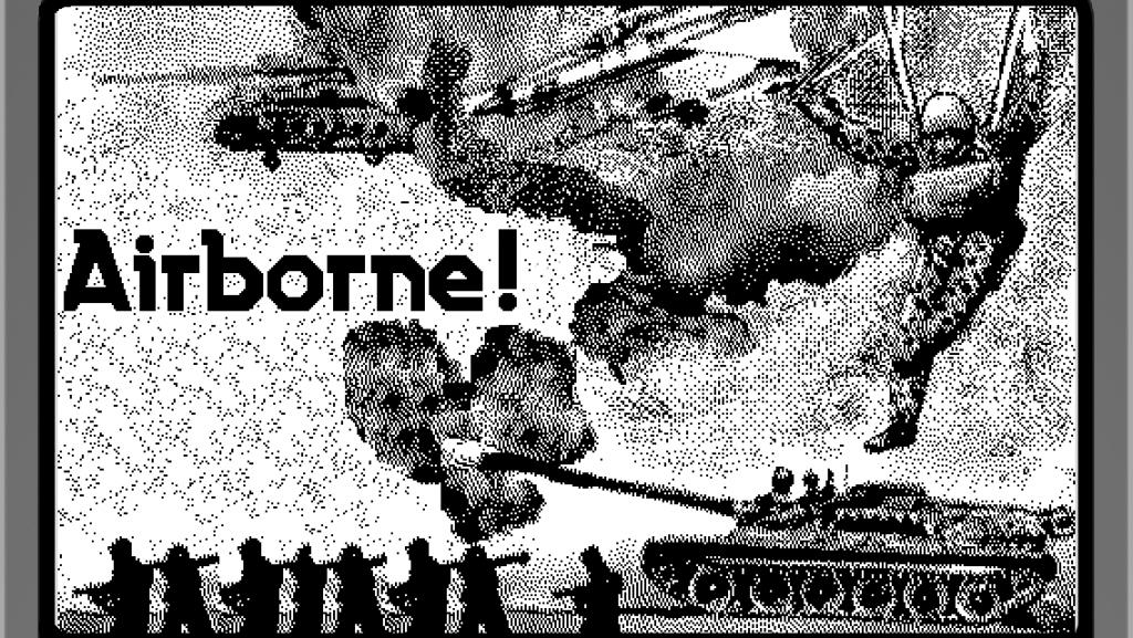 Ecran d'accueil du jeu Macintosh Airborne (1984)