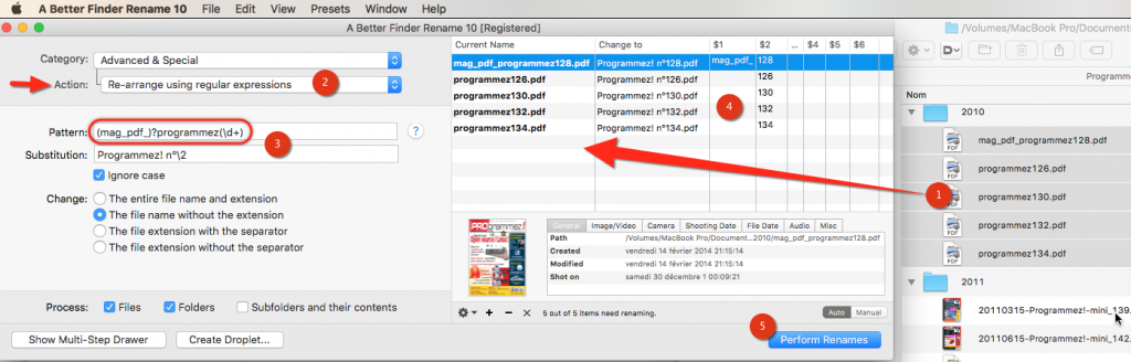 Logiciel A Better Finder Rename 10