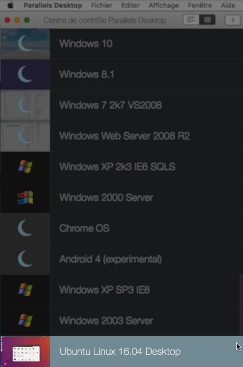 VM Parallels Ubuntu