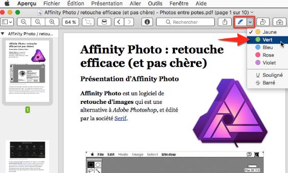 Annotation d'un PDF sous macOS avec le logiciel Aperçu (Preview)
