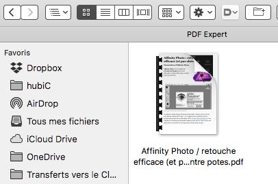 Page web au format PDF via Lecteur Safari