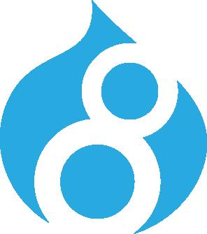 Logo du CMS Drupal 8