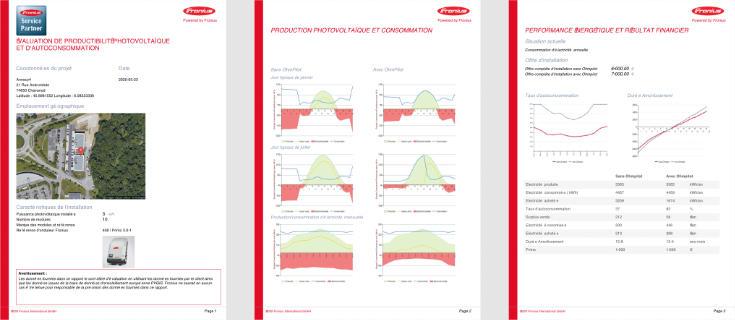 Outil de simulation solaire : rapport de performances