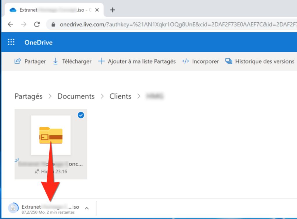 Téléchargement d'une image disque au format ISO